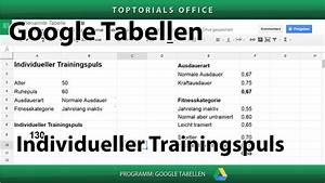 Php Alter Berechnen : trainingspuls nach lagerstr m formel google tabelle toptorials ~ Themetempest.com Abrechnung
