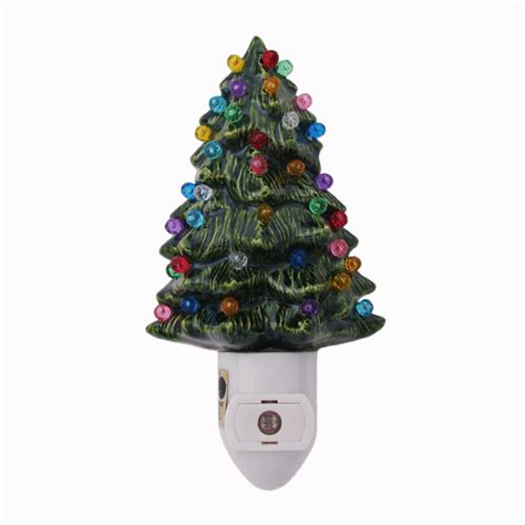 green ceramic christmas tree with lights green ceramic christmas tree night light texasceramics