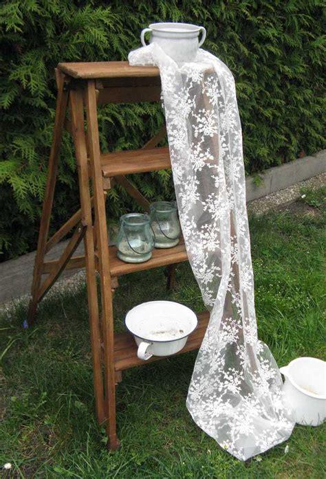 vintage deko shop sch 246 ne vintage deko holzleiter blue cottage shop