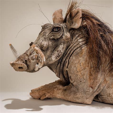 Warthog Sculpture Sold - Nick Mackman Animal Sculpture