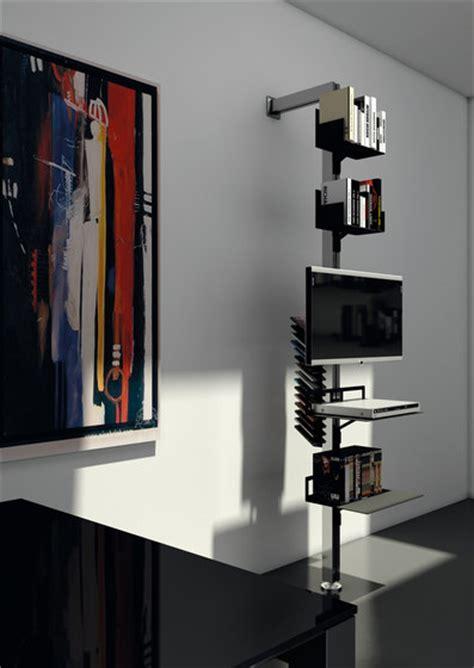 mobili per dvd totem di aico design porta libri a parete porta libri