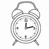 Clock Alarm Coloring Pages Drawing Twelve Preschooler Template Sketch Printable Oclock Place Digital Getcolorings Getdrawings sketch template