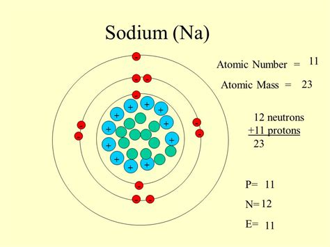 What Element Has 16 Protons by Sodium Na 11 Atomic Number Atomic Mass