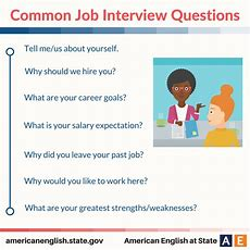 Common Job Interview Questions  English Language, Esl, Efl, Learn English, Vocabulary And