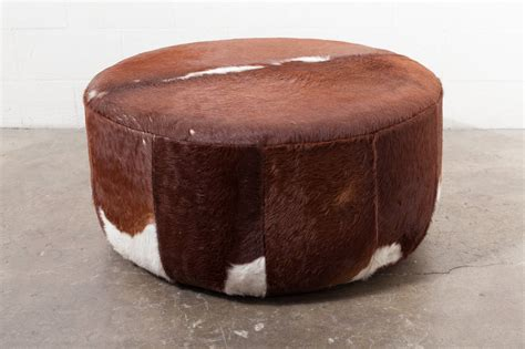 Cowhide Ottoman by Three Foot Wide Vintage Inspired Cowhide Ottoman Or Coffee