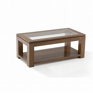 table basse vitree hevea 100x50cm helena pier import With meuble 80x80x40 1 table basse en bois meuble salon pier import