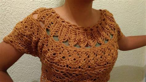 tutorial de blusa a crochet paso a paso facil y rapido 2 youtube