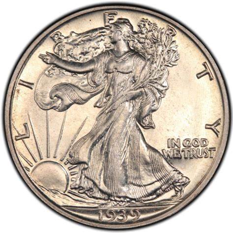 walking liberty half dollar 1939 walking liberty half dollar values and prices past sales coinvalues com