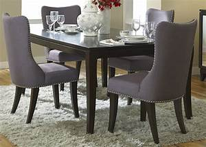Grey Upholstered Dining Chairs - Decofurnish