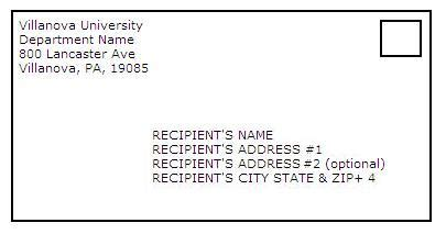 outgoing mail villanova university