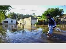 Más de tres mil evacuados en Uruguay por inundaciones