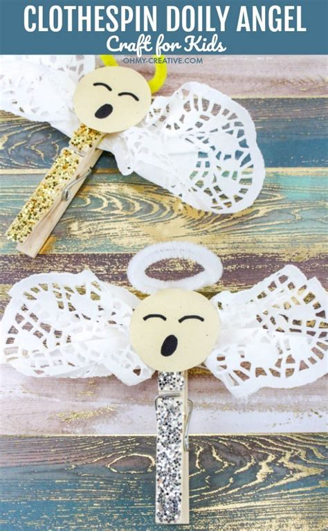 easy clothespin doily angel crafts  kids   creative