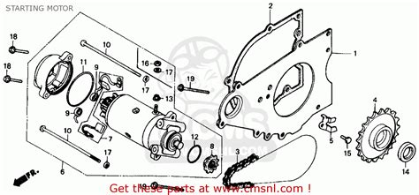 Honda Rebel Schematic by Honda Cmx250c Rebel 1986 G Usa California Starting Motor