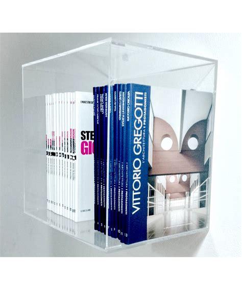 mensola trasparente mensola cubo 25x25x25 in plexiglass trasparente