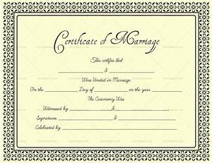 Marriage Certificate Templates Editable Blank Marriage Certificate Templates For Word