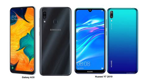 samsung galaxy y7 huawei y7 2019 samsung galaxy a30 specs comparisons