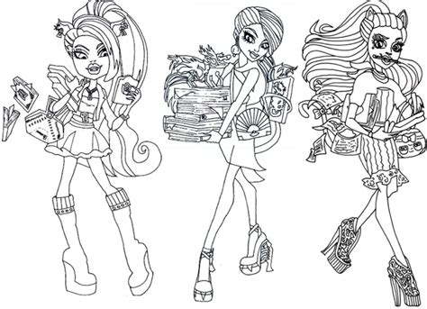 print  monster high coloring pages printable   kids