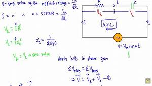 Ac Through Series Rc Circuit   Phasor Diagram