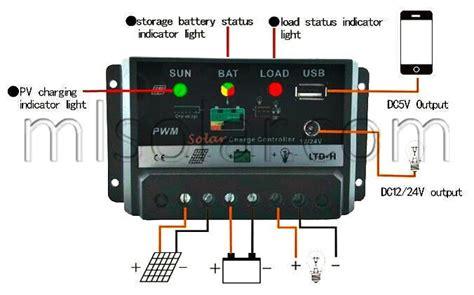 Amp Solar Charge Controller Pwm Usb Volt