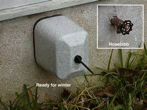 outdoor faucet protector extends the outdoor shower sauna