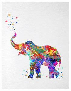 Dignovel Studios Baby Elephant Trunk Up Print Kids