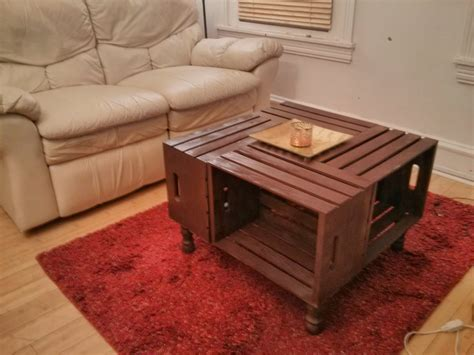 And there is space for saving your tv remotes ,books or sewing kit…and it's. Mixed Media: DIY Repurposed Wine Crates Coffee Table