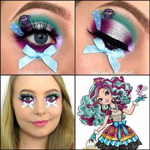 Ever After High Madeline Hatter makeup look collage ...