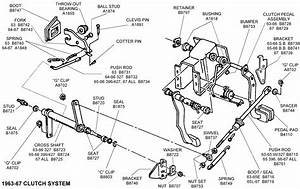 1963-67 Clutch System - Diagram View