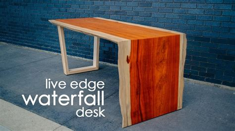 diy  edge waterfall table deskdo