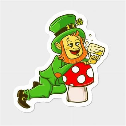 Leprechaun Drunk Clipart St Clipground Mushroom