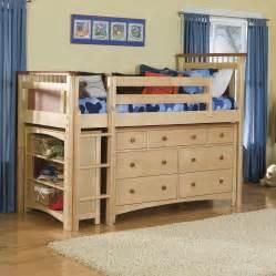 bolton bennington low loft bed with storage