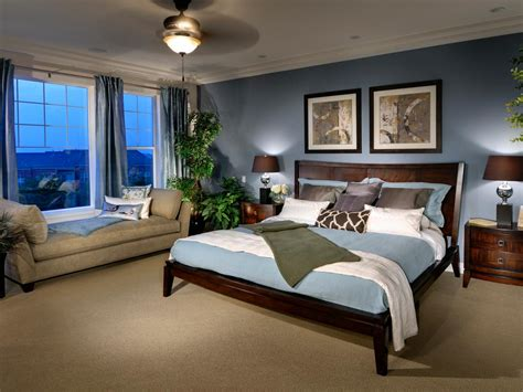 Blue Traditional Bedroom With Chaise Lounge Hgtv