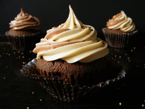 Do you ever dip your chocolate into coffee to double your joy? Chocolate Coffee Cupcakes with Coffee Buttercream Frosting   Elizabeth's Kitchen Diary