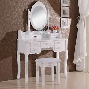 Miroir De Coiffeuse : coiffeuse table de maquillage avec miroir et tabouret 6 tailles blanc f131 ebay ~ Teatrodelosmanantiales.com Idées de Décoration