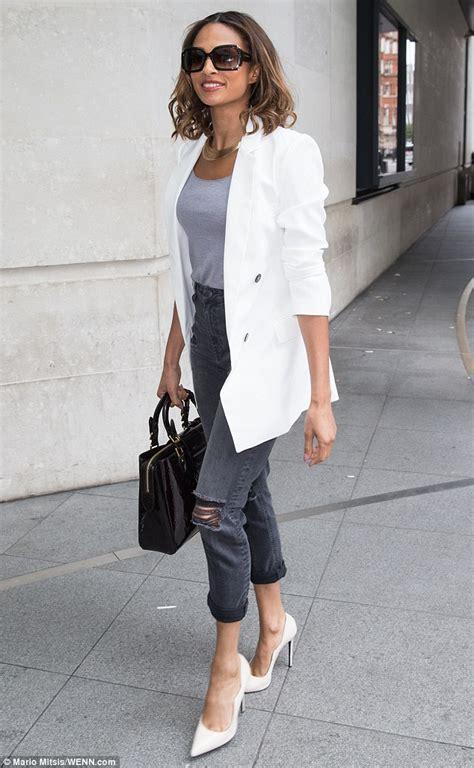 Jeans White Blazer | Fashion Ql