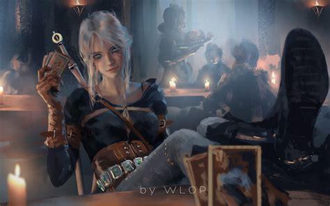 ciri witcher  fanart hd games  wallpapers hd wallpapers