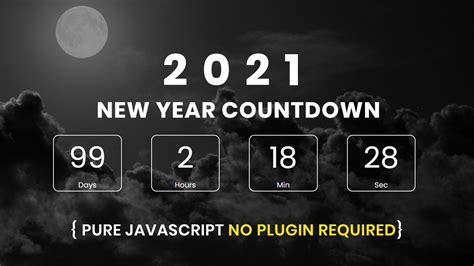 create responsive  countdown timer  javascript