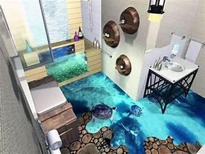 Les sols qui prennent vie grace a la technologie 3d for Salle de bain design avec résine décorative pour sol