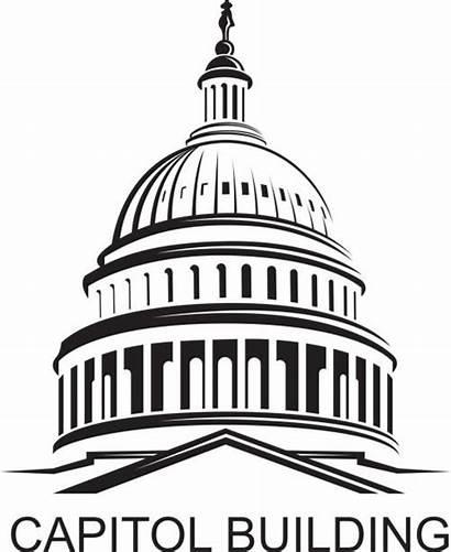 Building Capitol Capital Clipart Dome Vector Clip
