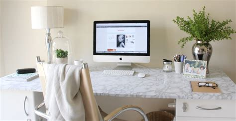 white marble desk diy marble desk house of hawkes