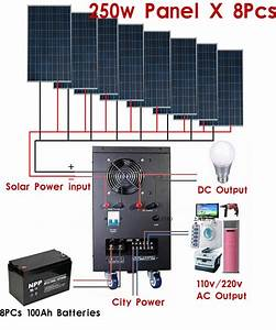 New 5kw Solar Power Generator System For 110v  220v Home Use Shipped By Sea