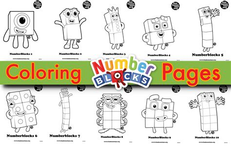 Coloring Numberblocks by For More Printable Colouring Pages Visit Www Funhousetoys