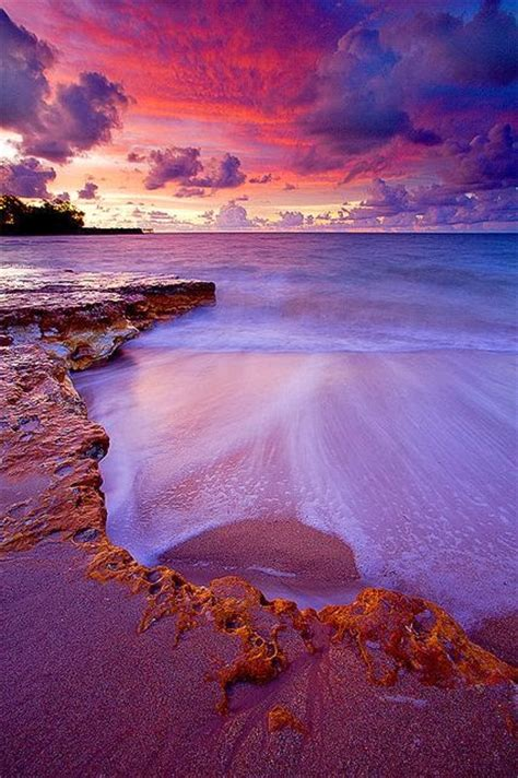 Nightcliff Beach Lit Up After Sundown Australia A1 Pictures