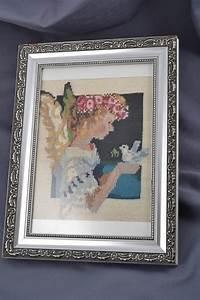 Cadre Décoratif Mural : madeheart tableau mural d coratif en macram encadr fait main original ange avec pigeon ~ Teatrodelosmanantiales.com Idées de Décoration