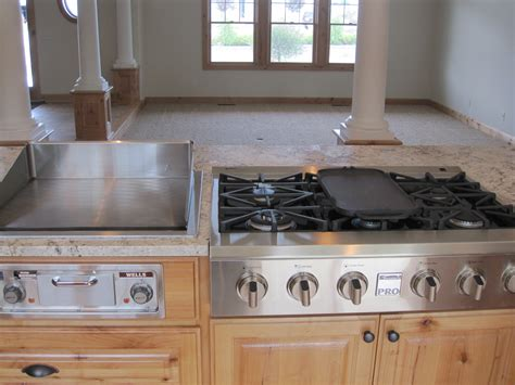 flat top grill for home kitchen custom new construction prior lake evan interiors