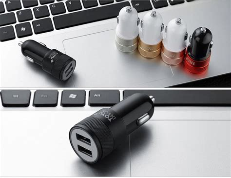 Totu Dual Usb 5v 2.4a Car Charger Rose Gold