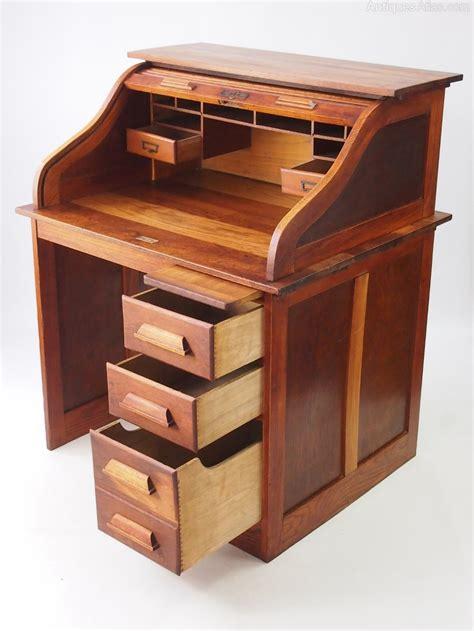 bureau desk small oak roll top desk bureau antiques atlas