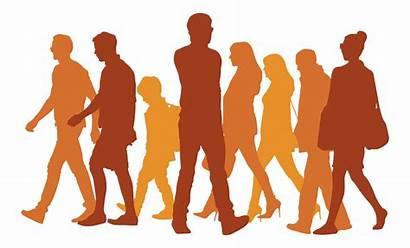 Walking Silhouette Clipart Transparent Icon Background Vector