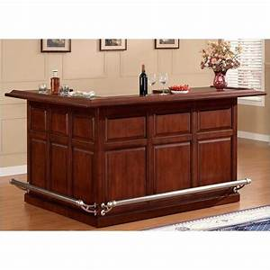 bowery hill l shape home bar in cherry bh 483338 With home bar furniture l shaped