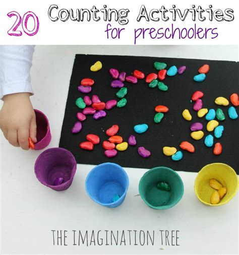 20 counting activities for preschoolers the imagination tree 210 | 20 counting activities and games for preschoolers 1